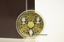 Canada 2002 $300 Triple Cameo Queen Elizabeth II  Gold & Silver Coin Coa and Box
