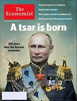 THE ECONOMIST OCTOBER 28 - NOV 3RD 2017 A TSAR IS BORN -DAY U PAY IT SHIPS FREE
