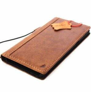 Genuine Leather Case fo Samsung Galaxy Note 8 Book Wallet Cover slim Tan Vintage