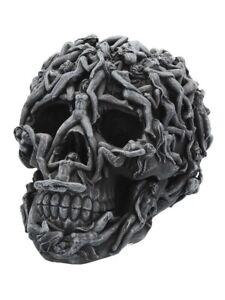 Nemesis Ornament Hell's Desire Skull Naked Temptress Black 22x17cm