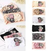 Fashion Baby Kids Elastic Bow Headband Cute 3D Flower Hairband Head Wrap Hair