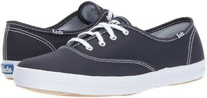 Keds Champion Original Canvas Lace-up Teniss Shoes Navy Canvas Fashion Sneakers