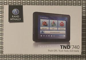 Rand McNally IntelliRoute TND 740LM Free Lifetime Maps~Truck GPS~ELD-ready