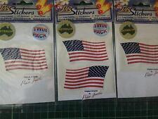 JAS STICKER # STN108A U.S.A. FLAG X4