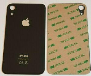iPhone XR Akkudeckel Backcover  Rückseite aus Glas Schwarz Black