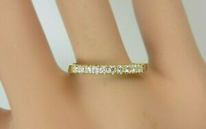 18k Yellow Gold and Diamond Wedding Band Ring 0.16 ct