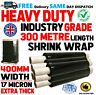 HEAVY DUTY Black Pallet Shrink Wrap STRONG Packing Stretch Cling Film 300m Rolls