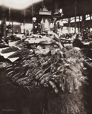 1890/1963 Vintage 11x14 LOBSTER Seafood Market Food Store France By EUGENE ATGET