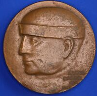 French bronze medallion: ALEXIS CARREL by LUCIEN LAFAYE 72mm [18731]