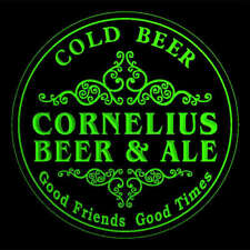 4x ccqs0461-g CORNELIUS Beer & Ale Cold Beer Bar Engraved Coasters