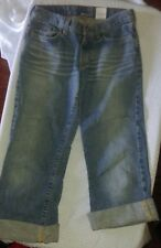 LUCKY BRAND Dungarees Lowered Peanut Crop Jeans SIze 0  / 25