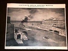 WW1 Prima Guerra Mondiale 1914 - 1918 Taranto Regia Nave Dante Alighieri rientra