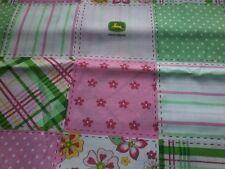 John Deere pink girly boutique baby crib/ toddler sheet  blocks