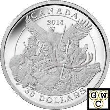 2014 2oz National Aboriginal Veterans Monument Proof$30 Sil Coin2oz 9999 (14082)