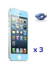 3 X Sky Blue Diamond Sparkling Glitter Shimmer Screen Protector for iPhone 5 5G