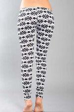 Legging leggings original psychédélique noir et blanc rétro retro Taille L
