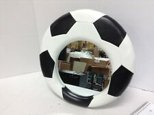 Soccer ball Desk Table Dresser vanity bath makeup Hanging Stand up mirror