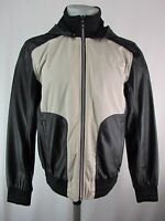 Guess Men's Contrast Mixed Media Faux Leather Jacket Size M