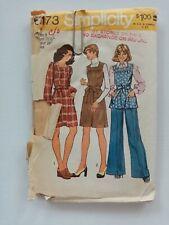 Simplicity Vintage Sewing Pattern - Dress Pants Size 8 -1970's - VPS061-6173