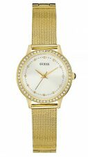 Guess Women's Chelsea White Dial & Gold Tone Stainless Steel Watch W0647L7