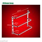 Wall Mounted 304 Stainless Steel Towel Rail Rack Shelf Bars Bathroom Accessory