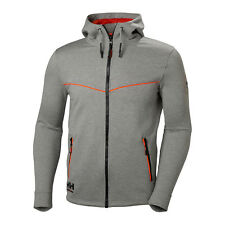 MENS HELLY HANSEN WORKWEAR GREY CHELSEA EVOLUTION FULL ZIP HOODIE 79197