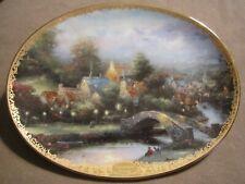 Lamplight County collector plate Thomas Kinkade Lamplight Village