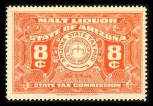 AZ B20 State Revenue ARIZONA 8c Orng BEER STAMP SERIES 1942 MNH SEE PHOTOS L-531