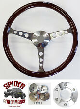 "Fits all cars 1965-1969 Ford steering wheel 15"" CLASSIC MAHOGANY"