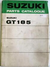 SUZUKI GT185 K L M Original Motorcycle Parts List Mar 1975 #99000-91772