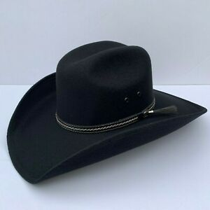 Men's Faux Felt Western Cowboy Tejana Sombrero Vaquero Mexican Hat Black - Brown
