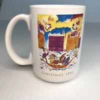 EUC - Neiman Marcus 1992 Christmas Mug Holoday Coffee Tea Collectible