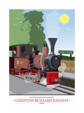 Leighton Buzzard Steam Train Railway Tea Towel - engine, locomotive