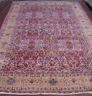 GENUINE ANTIQUE KERMANN HAND KNOTTED WOOL ORIENTAL RUG HAND WASHED 8.9 x 13.9