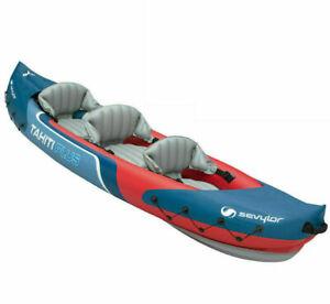 Inflatable Kayak Sevylor Tahiti Plus - 3 Person, Canoe New Boxed - Fast Shipping