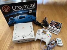 Sega Dreamcast Console Bundle! Box, VMU, Sonic, Marvel vs. Capcom, House of Dead