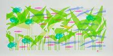 """Ikki Matsumoto """"Fishtales"""" Silkscreen, Edition of 85, Image size: 12x26"""