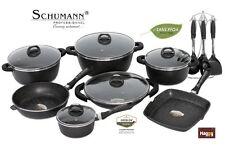 BATTERIE DE CUISINE EN PIERRE 27 pcs SCHUMANN PRO poele marmite casserole wok