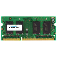 Crucial 4GB DDR3 PC3-12800 SODIMM 204-Pin 1.35V/1.5V Memory Ram CT51264BF160B