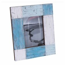 Photo Frame Wooden Vintage Rustic Farmhouse Timber Blue Country Beach Florence