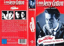 VHS G-man Jerry Cotton - Um null Uhr schnappt die Falle zu - G. Nader - FSK 16