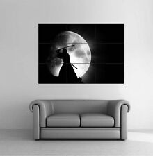 Moon Samurai Warrior GIANT Poster Art Print