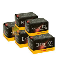 5 Rolls Kodak Professional Ektar 100 Color Negative 35mm Roll Film 36 Exposures