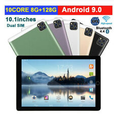 "10.1"" Ultra-thin 4G Tablet PC Android 8+128GB WIFI Dual SIM Triple Camera NEW"
