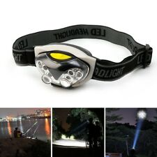 3 Modes 6 LED Adjustable Headband Light Camping Walking Hands Free Safety Torch