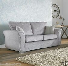 Grey High Quality Fabric Material 3 Seater Sofa Suite RAYNOR