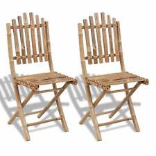 4x/ 2x Gartenstühle Bambus faltbar Sitzgruppe Stuhl Gartengarnitur Gartenmöbel