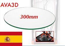 Cristal Glass 300mm (30cm)  Rostock Kossel Reprap Impresora 3D Heatbed Cam. Cal.