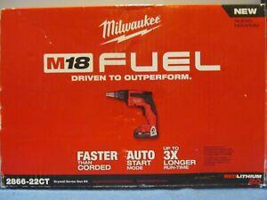 NEW MILWAUKEE 2866-22CT DRYWALL SCREW GUN KIT 18V BRUSHLESS 4500 RPM w BATTERY
