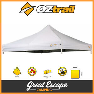 OZtrail Commercial Deluxe 3.0 Gazebo Replacement Canopy White 3 x 3m Roof